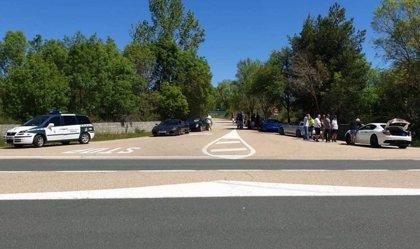 Denunciados en Abejar (Soria) por velocidad 8 coches ingleses de alta gama cuando iban a la Champions