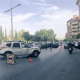 Control de la Policía Local en Jaén