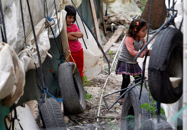 Niñas refugiadas sirias en Líbano
