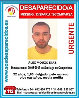 Buscan a un joven desaparecido desde el jueves en Santiago