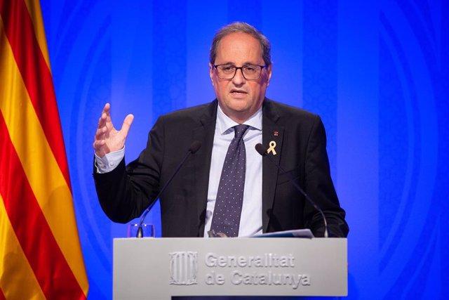 Rueda de prensa del Govern de la Generalitat sobre el balance del primer año de gobierno