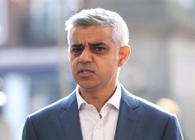 London Mayor Sadiq Khan in Stratford police station