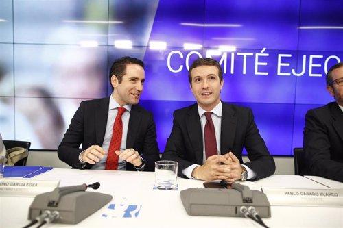 García Egea (PP) ya se ha visto con Cs y con Vox en sendos encuentros para empezar a hablar de pactos