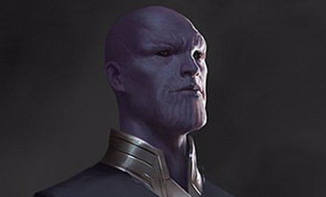 Thanos junto a su familia de Eternos en el concept art de Endgame