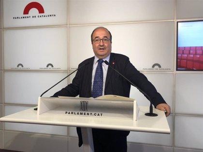 """Iceta (PSC) afea a Torra el """"desgobierno"""" en su primer año y que divida a los catalanes"""