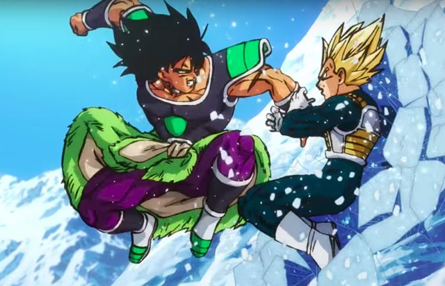 Vegeta y Broly en Dragon Ball Super