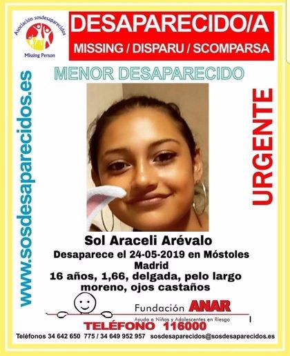 Buscan a una menor de 16 años desaparecida en Móstoles desde el pasado día 24