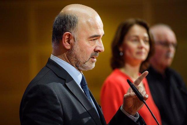 El comisario de Asuntos Económicos y Monetarios, Pierre Moscovici