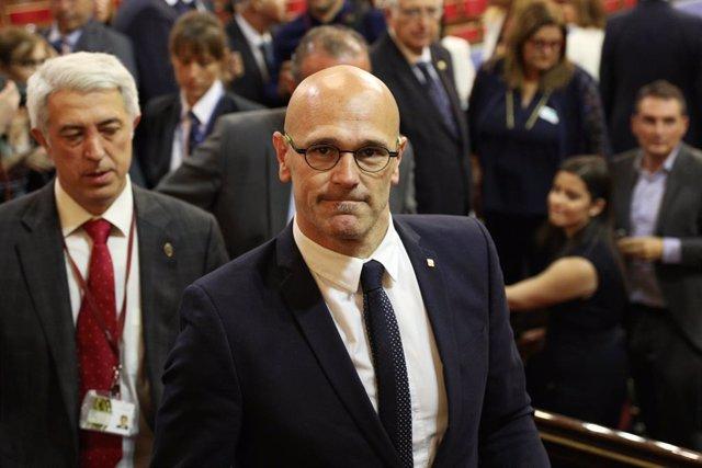 Espanya.- Els lletrats del Senat defensen la suspensió del pres Romeva en aplicació de la llei