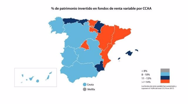 Economía/Finanzas.- Madrid, Cataluña y País Vasco acumulan el 53% de la inversión en fondos de inversión, según Inverco