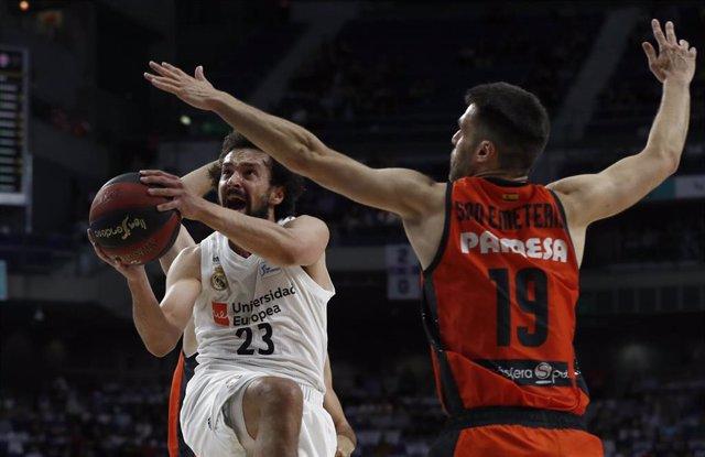 Baloncesto/Playoff.- Previa del Real Madrid - Valencia Basket