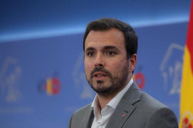Audiencia del Rey a Alberto Garzón Espinosa, de Izquierda Unida