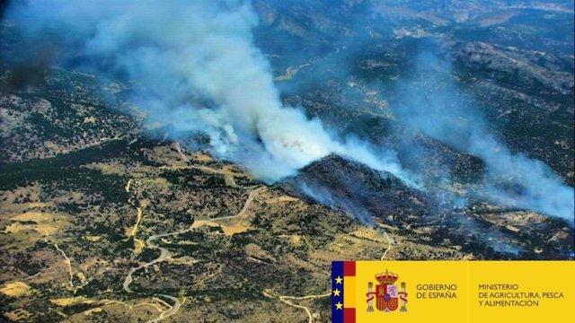 Controlado el incendio de El Hoyo de Pinares (Ávila)