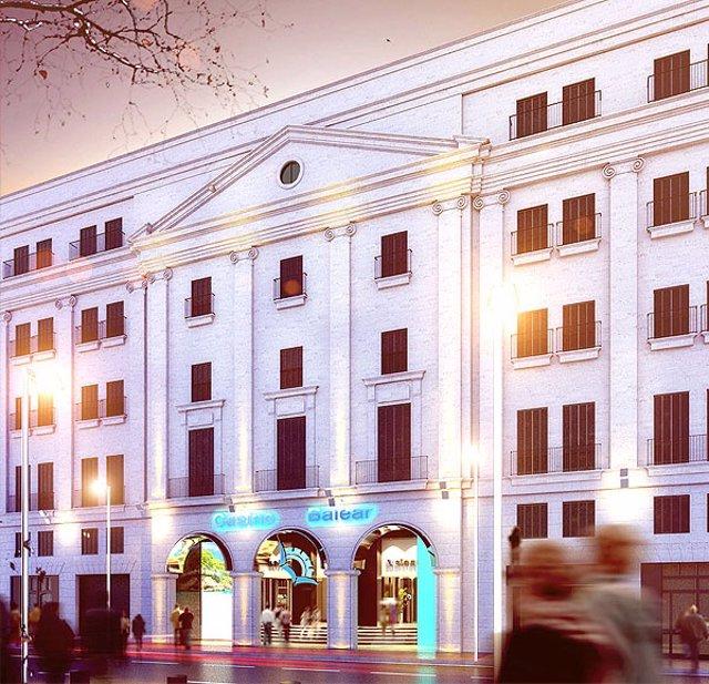 Imagen de la fachada del futuro Casino Balear