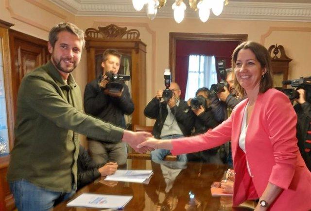 """PSOE y BNG se sientan por primera vez para negociar un gobierno bipartito """"estable"""" para el Ayuntamiento de Lugo"""