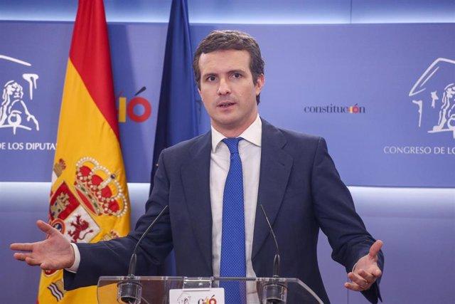 Audiencia del Rey a Pablo Casado, del Partido Popular (PP)