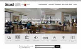 Imagen del portal que agrupa la información sobre