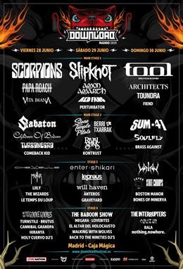 Horarios del Download Festival Madrid 2019