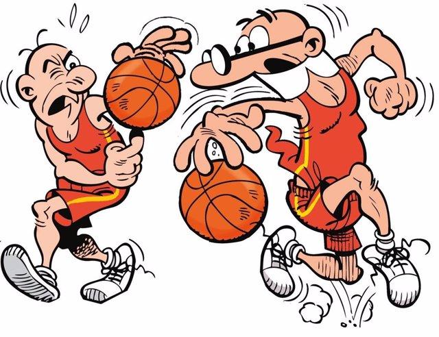 Baloncesto.- Mortadelo y Filemón 'vuelven' a las canchas por el Mundial de Baloncesto de China