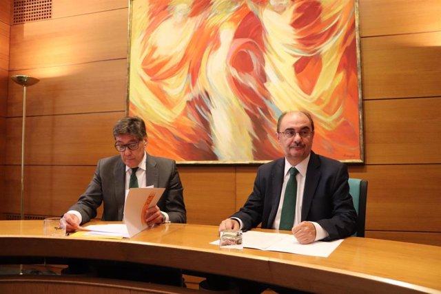 AV.- PSOE y PAR cierran un acuerdo para conformar el Gobierno de Aragón