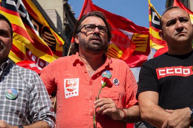 Manifestació dels sindicats pel Dia del Treball a Barcelona