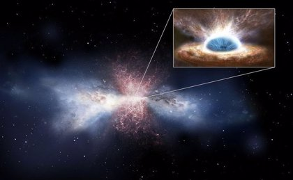 Potentes vientos moleculares de agujero negro vacían de gas un centro galáctico