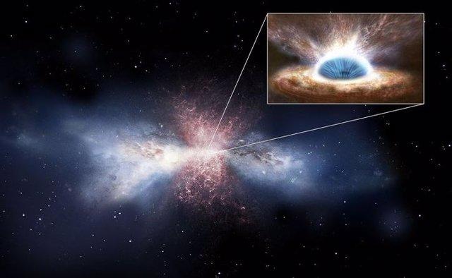 Vientos de 1.200 kilómetros por segundo producidos por un agujero negro