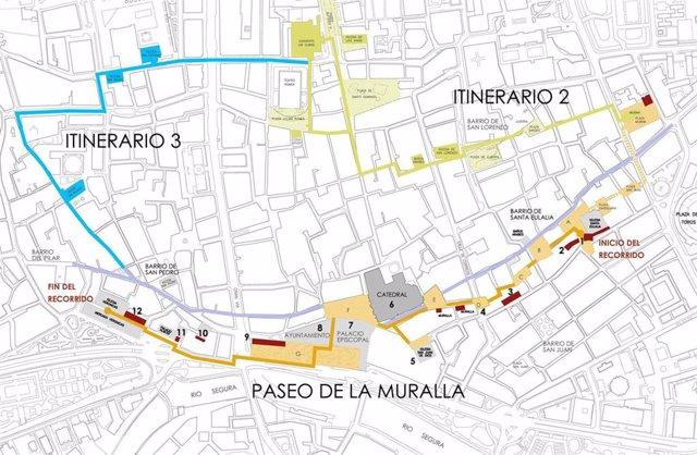 Un recorrido por el trazado original de la muralla permitirá descubrir los vestigios de la Murcia Medieval