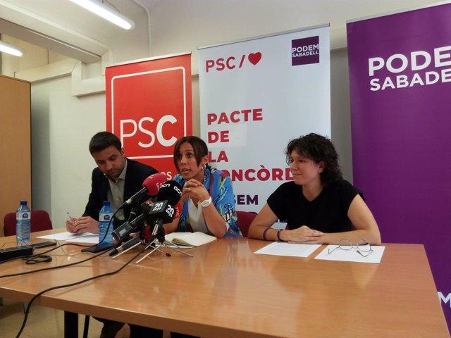 """PSC i Podem de Sabadell fixen un decàleg de mesures que inclou un """"pacte anticorrupció"""""""