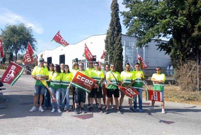 Sevilla.- Continúa el conflicto laboral de la plata de reciclaje de la Mancomunidad Campiña 2.000, según CCOO