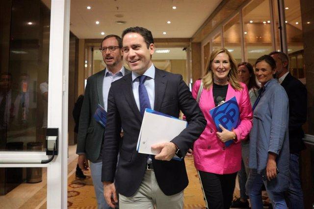 Reunión del PP y VOX en el Congreso de los Diputados
