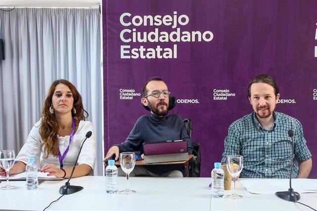 Reunión del Consejo Ciudadano Estatal de Podemos en el Círculo de Bellas Artes de Madrid