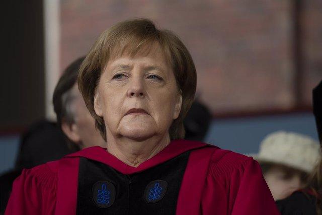 Merkel honored by Harvard University