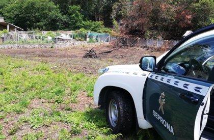 La Guardia Civil investiga a un vecino de Vigo por un delito de incendio forestal en Cangas ocasionado por negligencia