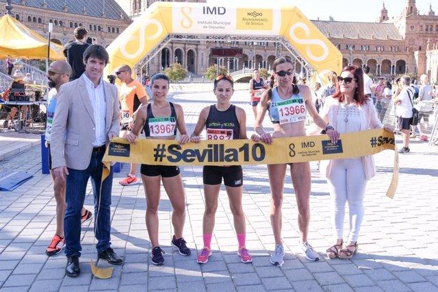Sevilla.- Said el Bouchikhi y Mamen Ledesma se imponen en la Carrera Popular Parque de María Luisa