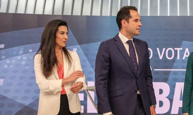 Rocío Monasterio de Vox e Ignacio Aguado de Ciudadanos