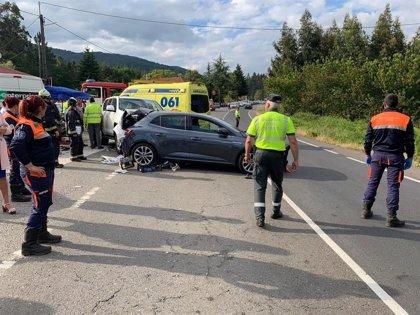 Tres heridos, uno de ellos grave, en un accidente de tráfico en Cuntis (Pontevedra)