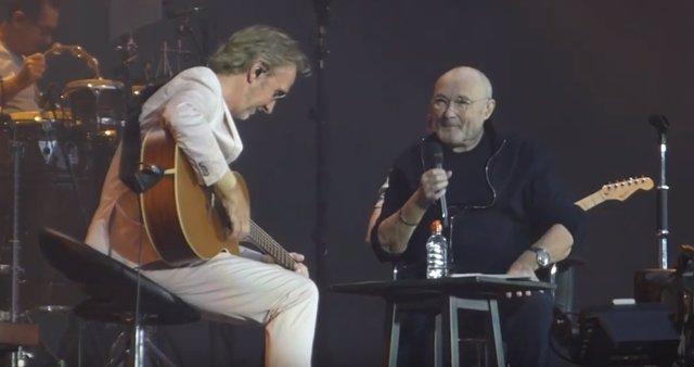 Phil Collins y Mike Rutherford de Genesis tocan juntos por primera vez en doce años