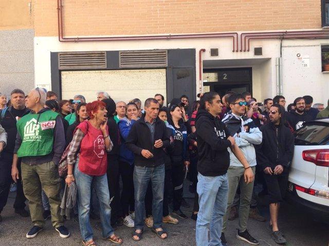 Paralitzat de nou el desnonament de la primera persona que va aconseguir detenir el seu desallotjament en 2011 a Madrid