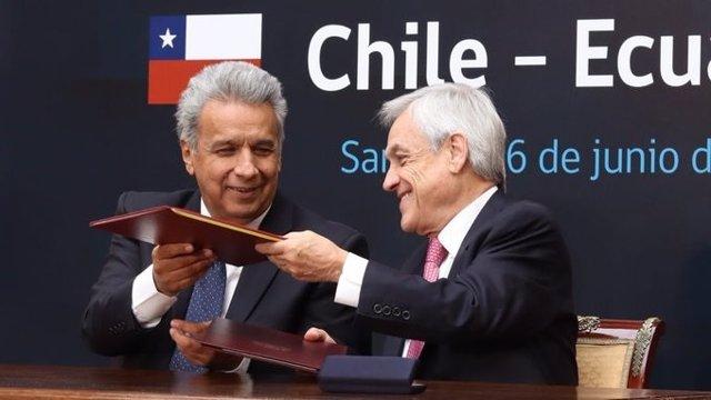 """Chile y Ecuador inician las negociaciones para firmar un """"tratado de libre comercio"""" bilateral"""