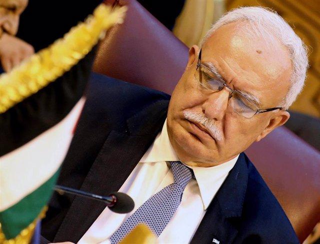 El ministro palestino de Asuntos Exteriores Riad al-Maliki en El Cairo