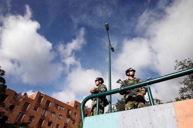 Militares en Bogotá