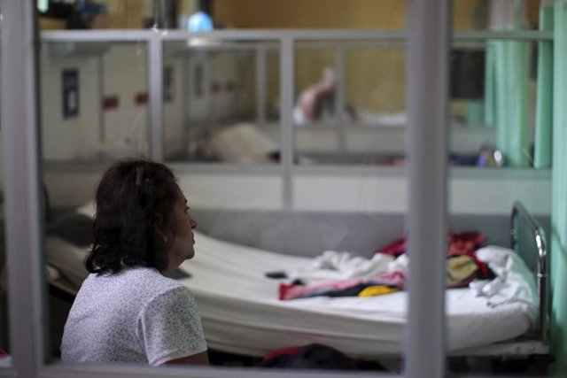 A Guillain-Barre syndrome patient recovers in the neurology ward at the Rosales