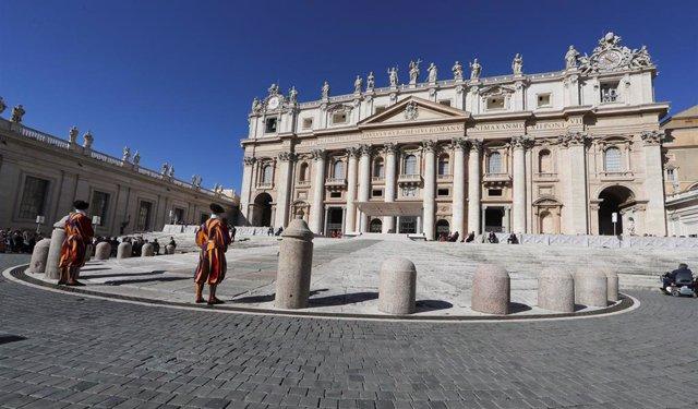 La plaza de San Pedro, en Vaticano