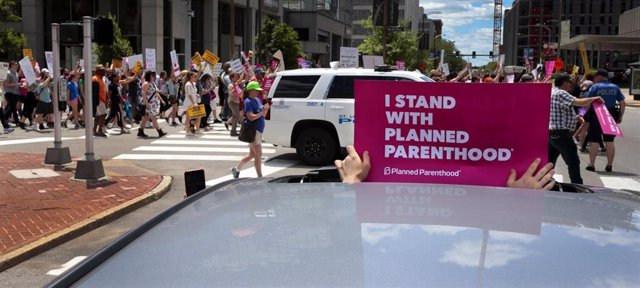 Abortion rights rally results in arrests
