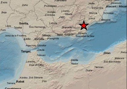 Registrado un terremoto de magnitud 3,4 al sureste de Zurgena (Almería) sin causar daños