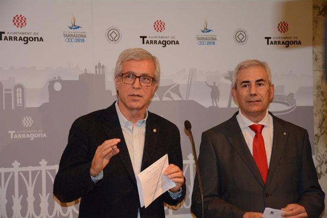 Josep Fèlix Ballesteros, alcalde de Tarragona i Josep M. Barberà