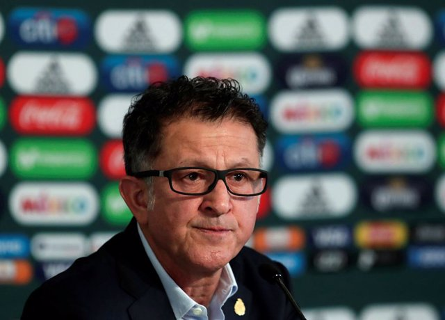 Mexico coach Juan Carlos Osorio speaks to the media during a news conference ann