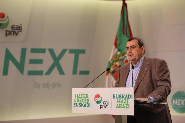 """26M.- Mediavilla ve al PNV en condiciones de revalidar su escaño europeo, aunque necesitará """"muchos votos, unos 400.000"""""""