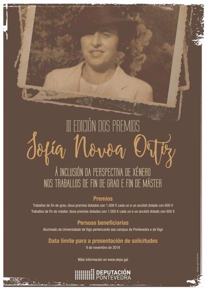 La III edición de los Sofía Novoa premiará este miércoles a seis trabajos de fin de grado y máster de la UVigo